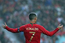 June 7, 2018 - Lisbon, Portugal - Portugal's forward Cristiano Ronaldo gestures during the FIFA World Cup Russia 2018 preparation football match Portugal vs Algeria, at the Luz stadium in Lisbon, Portugal, on June 7, 2018. (Credit Image: © Pedro Fiuza via ZUMA Wire)