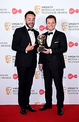 Ant McPartlin and Declan Donnelly with the award for Best Live Event in the press room at the Virgin TV British Academy Television Awards 2017 held at Festival Hall at Southbank Centre, London.