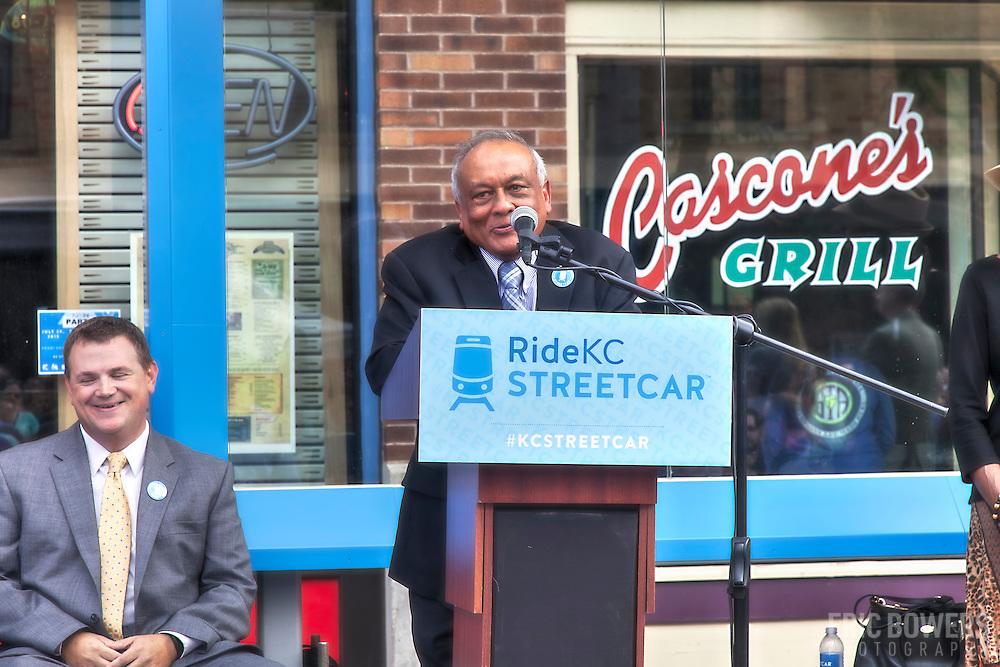 Rail Rally, Kansas City Streetcar construction, July 29, 2015.