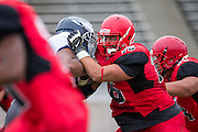Community College of San Francisco outside lineman Elliot Baker (76) protects the quarterback against College of Siskiyous at Community College of San Francisco in San Francisco, Calif., on September 10, 2016. (Stan Olszewski/Special to S.F. Examiner)