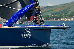 Day 3 Scottish Series, SAILING, Scotland.<br /> <br /> Class 2 fleet, with El Gran Senor, J122E, 4822R<br /> <br /> The Scottish Series, hosted by the Clyde Cruising Club is an annual series of races for sailing yachts held each spring. Normally held in Loch Fyne the event moved to three Clyde locations due to current restrictions. <br /> <br /> Light winds did not deter the racing taking place at East Patch, Inverkip and off Largs over the bank holiday weekend 28-30 May. <br /> <br /> Image Credit : Marc Turner / CCC