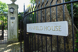 © Licensed to London News Pictures. 01/06/2019. LONDON, UK.  The entrance to Winfield House in Regent's Park ahead of the State Visit of President Donald Trump.  Winfield House is the residence of the Ambassador of the United States of America to the Court of St. James's and will host the US President during his visit.  Photo credit: Stephen Chung/LNP