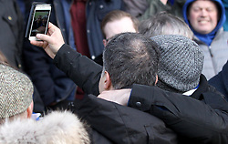 Bristol Rovers President Wael Al Qadi poses for selfies - Mandatory byline: Robbie Stephenson/JMP - 27/02/2016 - FOOTBALL - Adams Park - Wycombe, England - Wycombe Wanderers v Bristol Rovers - Sky Bet League Two