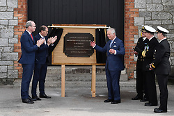 The Prince of Wales during a visit to the Naval Base, near Cork as part of his tour of the Republic of Ireland.