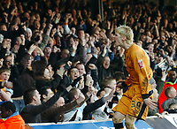 Photo: Kevin Poolman.<br />Luton Town v Wolverhampton Wanderers. Coca Cola Championship. 03/03/2007. Andy Keogh of Wolves celebrates his goal and their 2nd.