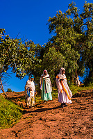 Pilgrims, Lalibela, Ethiopia.