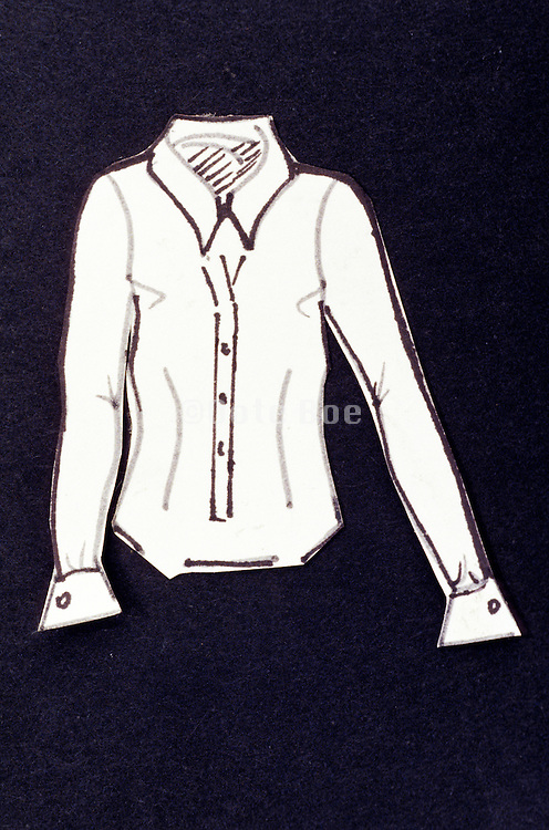 still life of drawing of blouse