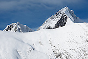 Mont Valier (2838m) seen from below col de Pause, near Couflens, Ariege, Midi-Pyrenees, France..
