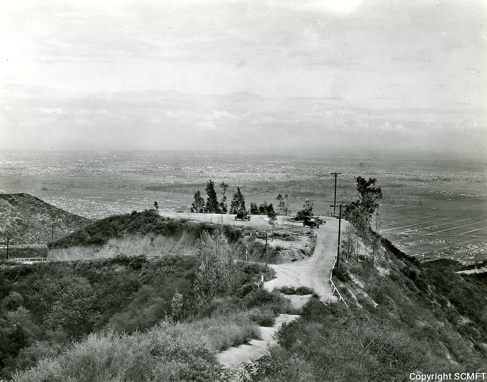 1924 Site of the former Lookout Mountain Inn, just west of Laurel Canyon. Fire destroyed the Inn in 1919