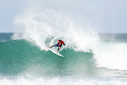 Jul 15, 2017 - Jeffreys Bay, South Africa - Michel Bourez of Tahiti advancing directly to Round Three of the Corona Open J-Bay after winning Heat 12 of Round One at Supertubes, Jeffreys Bay, South Africa. (Credit Image: © Pierre Tostee/World Surf League via ZUMA Wire)