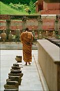 Monk at the Mahabodhi Temple in Bhod Gaya