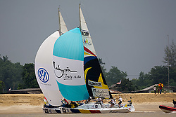 2008 Monsoon Cup. Peter Gilmour and Ben Ainslie in a luffing duel. (Thursday  5th December 2008). .