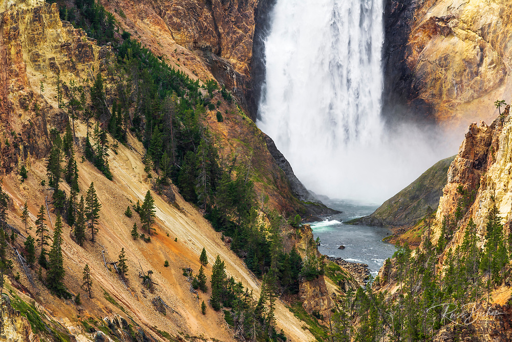 Lower Yellowstone Falls from Artist Point, Yellowstone National Park, Wyoming USA