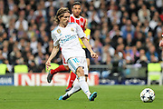 Luka Modric (Real Madrid) during the UEFA Champions League, semi final, 2nd leg football match between Real Madrid and Bayern Munich on May 1, 2018 at Santiago Bernabeu stadium in Madrid, Spain - Photo Laurent Lairys / ProSportsImages / DPPI