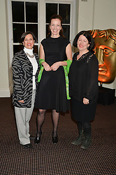 Left to right, SEIDA SARIC, BRITA FERNANDEZ-SCHMIDT and PIPPA HARRIS at a film screening in aid of the charity Women for Women held at BAFTA, 195 Piccadilly, London on 26th February 2014.