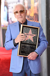 Charles Aznavour honored with a star on the Hollywood Walk of Fame next to the Pantages Theatre on August 24, 2017 in Los Angeles, CA, USA. Photo by Lionel Hahn/AABACAPRESS.COM