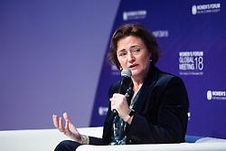 Karien van Gennip CEO, ING France speaks during the opening session of the Women's Forum Global Meeting in Paris on November 15, 2018. Photo by Raphaël Lafargue/ABACAPRESS.COM