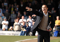 Photo: Ashley Pickering.<br />Southend United v Leeds United. Coca Cola Championship. 17/03/2007.<br />Leeds manager Dennis Wise shouts his orders from the sidelines