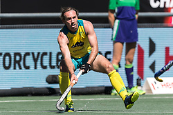Jake Harvie of Australia during the Champions Trophy finale between the Australia and India on the fields of BH&BC Breda on Juli 1, 2018 in Breda, the Netherlands.