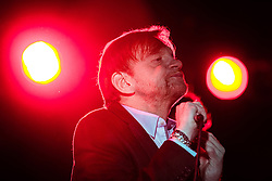 © Licensed to London News Pictures . 15/05/2014 . Manchester , UK . The Fall , lead by MARK E SMITH , perform at Manchester Cathedral . Photo credit : Joel Goodman/LNP