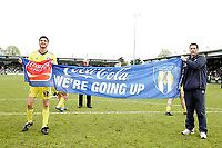 Photo: Lee Earle.<br /> Yeovil Town v Colchester United. Coca Cola League 1. 06/05/2006. Colchester's Pat Baldwin (L) celebrates.