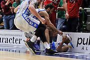 DESCRIZIONE : Beko Legabasket Serie A 2015- 2016 Dinamo Banco di Sardegna Sassari - Olimpia EA7 Emporio Armani Milano<br /> GIOCATORE : Josh Akognon<br /> CATEGORIA : Ritratto Esultanza Postgame<br /> SQUADRA : Dinamo Banco di Sardegna Sassari<br /> EVENTO : Beko Legabasket Serie A 2015-2016<br /> GARA : Dinamo Banco di Sardegna Sassari - Olimpia EA7 Emporio Armani Milano<br /> DATA : 04/05/2016<br /> SPORT : Pallacanestro <br /> AUTORE : Agenzia Ciamillo-Castoria/C.AtzoriCastoria/C.Atzori