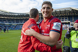 March 30, 2019 - Edinburgh, Scotland, United Kingdom - Dan Goggin of Munster celebrates during the Heineken Champions Cup Quarter Final match between Edinburgh Rugby and Munster Rugby at Murrayfield Stadium in Edinburgh, Scotland, United Kingdom on March 30, 2019  (Credit Image: © Andrew Surma/NurPhoto via ZUMA Press)