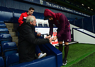 Marko Arnautovic of West Ham signs his autograph for a fan as he arrives at The Hawthorns. Premier league match, West Bromwich Albion v West Ham United at the Hawthorns stadium in West Bromwich, Midlands on Saturday 16th September 2017. pic by Bradley Collyer, Andrew Orchard sports photography.