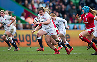 England Women's Sarah Bern in action during todays match<br /> <br /> Photographer Bob Bradford/CameraSport<br /> <br /> 2020 Women's Six Nations Championship - England v Wales - Saturday 7th March 2020 - The Stoop - London<br /> <br /> World Copyright © 2020 CameraSport. All rights reserved. 43 Linden Ave. Countesthorpe. Leicester. England. LE8 5PG - Tel: +44 (0) 116 277 4147 - admin@camerasport.com - www.camerasport.com