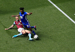23 April 2017 - EFL Championship Football - Aston Villa v Birmingham City - Alan Hutton of Aston Villa fouls Jacques Maghoma of Birmingam City - Photo: Paul Roberts / Offside