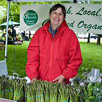 Asparagus from the Quinte Organic farmers' co-op at the Trinity-Bellwoods farmers' market in Toronto, June 2007