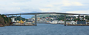 Large concrete road bridge, Nordsund Bridge, Kristiansund, Romsdal county, Norway