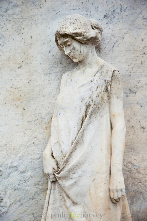 Detail of a grave, Cemetery of San Michele island, Venetian Lagoon, Venice Italy, Europe