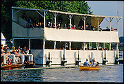 Henley, GREAT BRITAIN,   General View of the Floating Grandstand from the Progress Board Photo Position. 1997 Henley Royal Regatta, Henley Reach, River Thames, 2-6 July 1997, Henley, ENGLAND [Mandatory Credit, Peter Spurrier/Intersport-images] 1997 Henley Royal Regatta, Henley, Great Britain