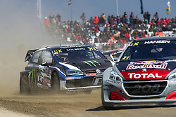 April 28, 2018 - Montalegre, Vila Real, Portugal - Petter SOLBERG (NOR) in Volkswagen Polo R of PSRX Volkswagen Sweden (C) in action during the World RX of Portugal 2018, at Montalegre International Circuit, on April 28, 2018 in Montalegre, Portugal. (Credit Image: © Dpi/NurPhoto via ZUMA Press)
