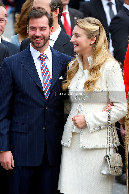 Guillaume, Hereditary Grand Duke of Luxembourg, and Belgian Countess Stephanie de Lannoy  attend the Civil wedding of HRH Guillaume the Hereditary Grand Duke and Countess Stephanie de Lannoy at Luxembourg City Town Hall on October 19, 2012 in Luxembourg