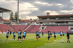 July 23, 2018 - Cluj, Romania - i180723 Players of MalmÅ¡ FF during a practice ahead the UEFA Champions League qualifying match between Cluj and MalmÅ¡ FF on July 23, 2018 in Cluj..Photo: Ludvig Thunman / BILDBYRN / kod LT / 35508 (Credit Image: © Ludvig Thunman/Bildbyran via ZUMA Press)