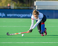 AMSTELVEEN - Suzanne Homma (SCHC)  tijdens de competitie hoofdklasse hockeywedstrijd dames, Pinoke-SCHC (1-8) . COPYRIGHT KOEN SUYK