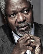 Kofi Atta Annan (* 8. April 1938 in Kumasi, Goldkueste; 18. August 2018 in Bern, Schweiz) war ein ghanaischer Diplomat. Photo Siggi Bucher