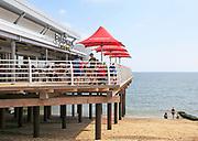 The Boardwalk cafe bar on the pier at Felixstowe, Suffolk, England, UK