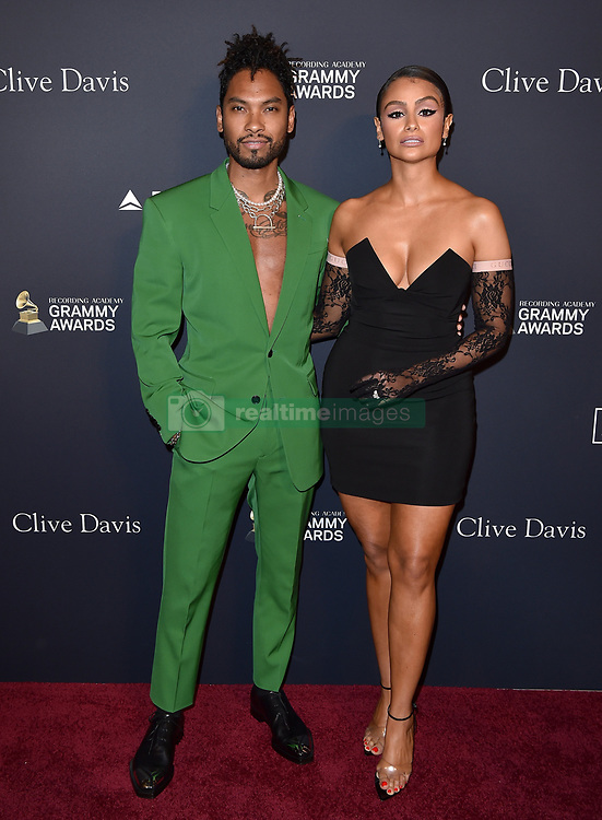 Recording Academy and Clive Davis Pre-GRAMMY Gala. The Beverly Hilton Hotel, Beverly Hills, California. EVENT January 25, 2020. 25 Jan 2020 Pictured: Miguel,Nazanin Mandi. Photo credit: AXELLE/BAUER-GRIFFIN / MEGA TheMegaAgency.com +1 888 505 6342