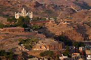Rajastan view from the top of Jodhpur fort, Jodhpur, Rajastan, India. .
