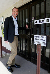 EDITORS NOTE ALTERNATE CROP Liberal Democrat leader Tim Farron visits the Allithwaite Community Centre in Allithwaite, Cumbria, as voters go to the polls in local elections across the country.
