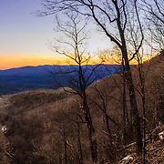This is a panoramic image of Amicalola in north Georgia mountains.