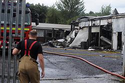 Scene of the fire at Woodend Cowdenbeath<br /> <br /> (c) David Wardle | Edinburgh Elite media