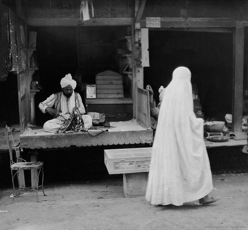 Cloth Dealer, Peshawar, India, 1929