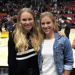 """Angelique Kerber releases a photo on Instagram with the following caption: """"Had a lot of fun last night with @carowozniacki at the @dallasmavs vs. @miamiheat game! Finally got to see @swish41 in action... \ud83d\udc4f\ud83c\udfc0\ud83c\udde9\ud83c\uddea\ud83d\udc51 #legend"""". Photo Credit: Instagram *** No USA Distribution *** For Editorial Use Only *** Not to be Published in Books or Photo Books ***  Please note: Fees charged by the agency are for the agency's services only, and do not, nor are they intended to, convey to the user any ownership of Copyright or License in the material. The agency does not claim any ownership including but not limited to Copyright or License in the attached material. By publishing this material you expressly agree to indemnify and to hold the agency and its directors, shareholders and employees harmless from any loss, claims, damages, demands, expenses (including legal fees), or any causes of action or allegation against the agency arising out of or connected in any way with publication of the material."""