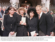 Ivana Lowell, Marchioness of dufferin & Ava,  Evgenia Sands and Julian Sands. memorial service for Maureen, Marchioness of Dufferin & Ava. St. Margaret's. Westminster. London. 15/7/98. film 98525f22<br /> © Copyright Photograph by Dafydd Jones<br /> 66 Stockwell Park Rd. London SW9 0DA<br /> Tel 0171 733 0108