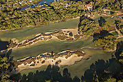 Aerial view of Cougar Point Golf Club and homes in Kiawah Island, SC.