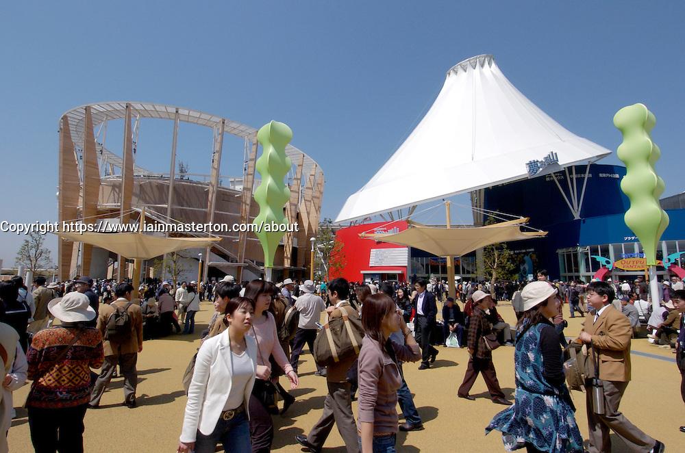 Sponsors pavilions at World Expo 2005 at Aichi near Nagoya in Japan